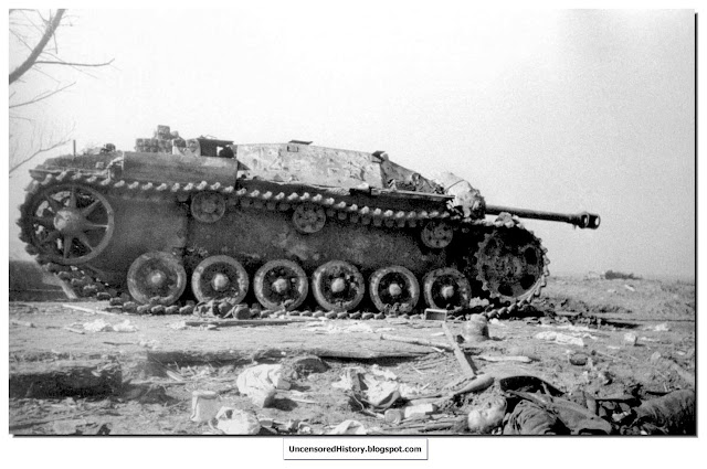 destroyed German Stug 3