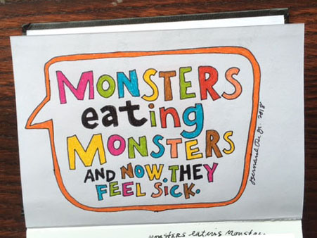 Monsters eating Monsters
