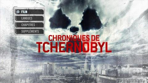 Menu DVD de Les chroniques de Tchernobyl