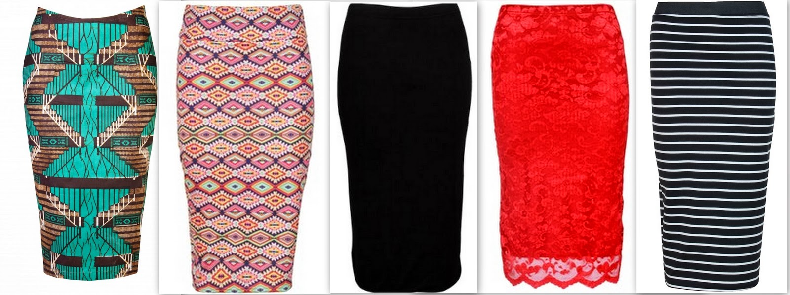 midi skirts, printed midi skirts, black midi skirts, red lace midi skirts, striped midi skirts,