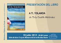 INVITACIÓN PRESENTACIÓN  A TI; YOLANDA en Ceuta