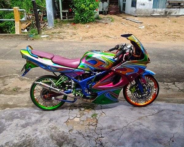 Modifikasi Kawasaki Ninja 150 RR Airbrush