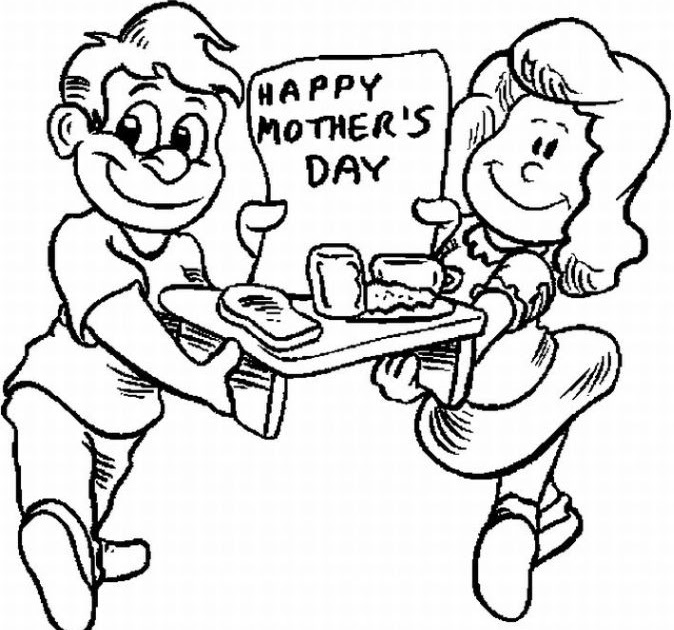 Happy Mother Day from Kid 39 s Coloring