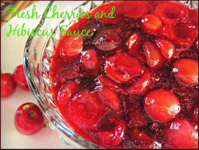 Fresh Cherries and Hibiscus Holiday Sauce Recipe, a twist on a classic. Cherries and Hibiscus take the center stage this holiday . Sweet, Tart and Crisp as cranberries, cherries are available all year long and the hibiscus gives this sauce an unexpected but delicious touch #holidayfood #sidedishes #cherries #hibiscus