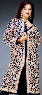 Womens Outerwear Wool Jacket Kashmiri Hand Embroidery