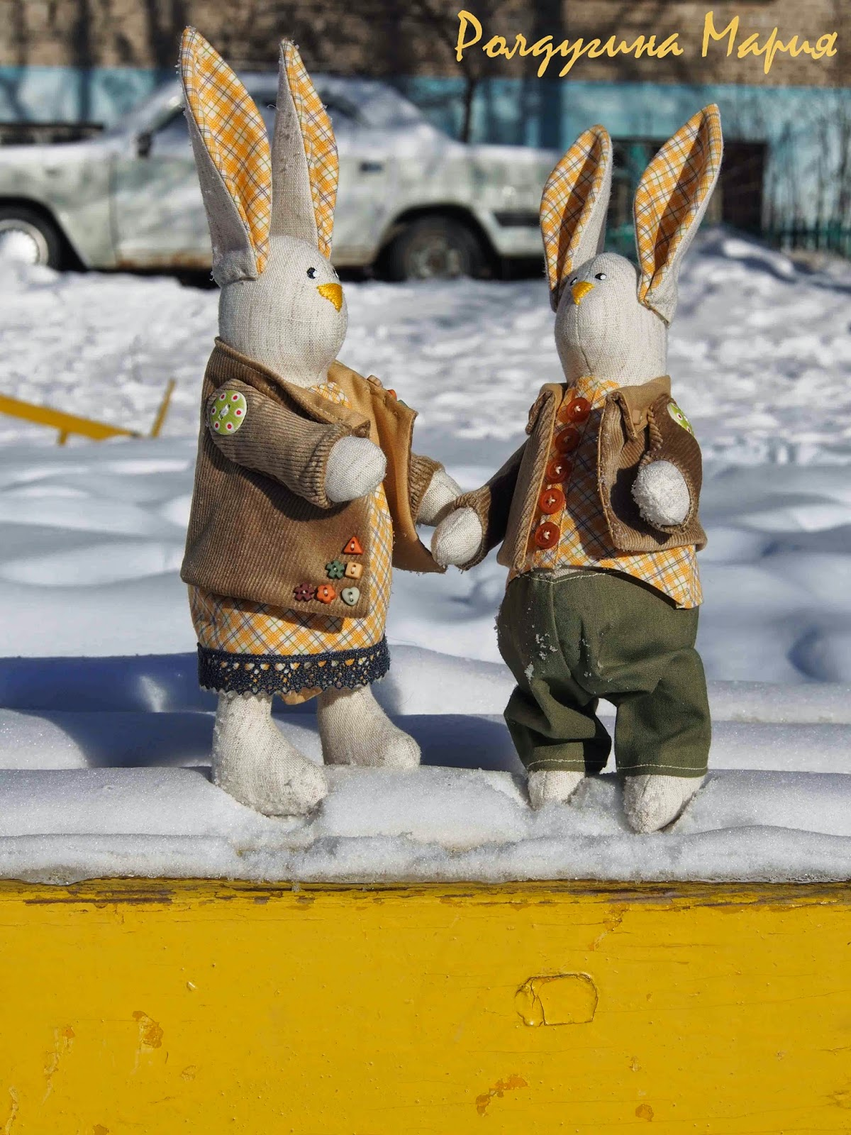 любовь зайцы игрушка