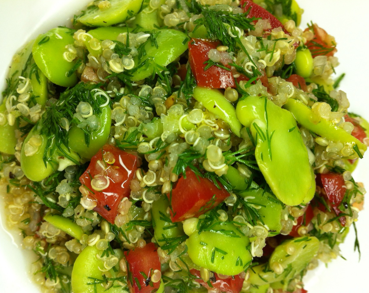 spring fava (broad bean) bean salad, two ways | Cooking Minette
