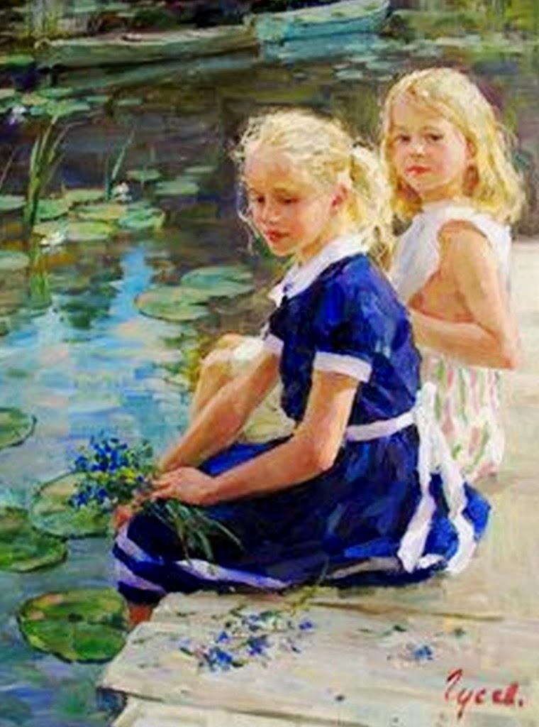 retratos-de-niñas-pintados-al-oleo