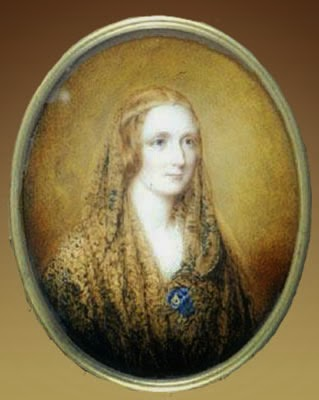 Painted portrait of Mary Shelley.
