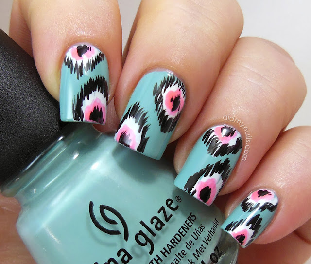 ikat nails on China Glaze For Audrey