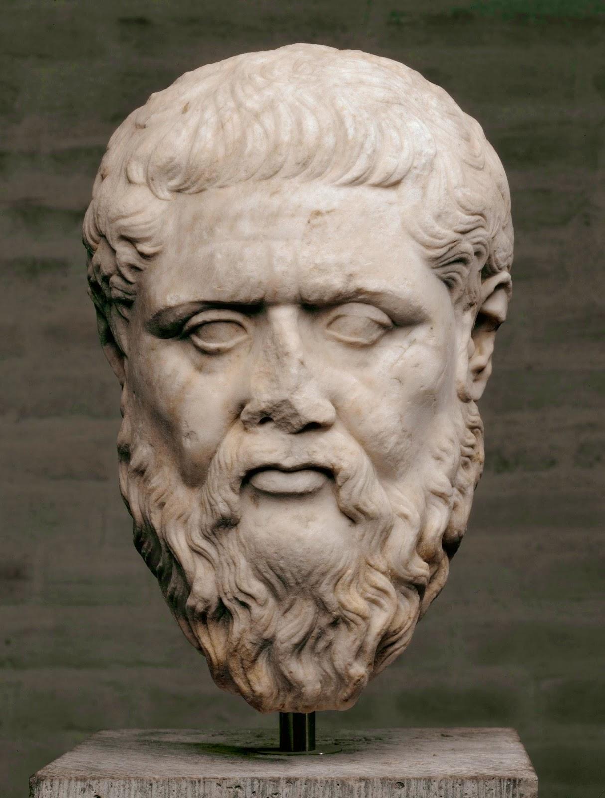 Retrato de Platón según modelo griego, siglo IV a. C.