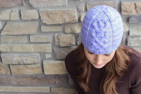 """Millie"" Heart Cable Hat"