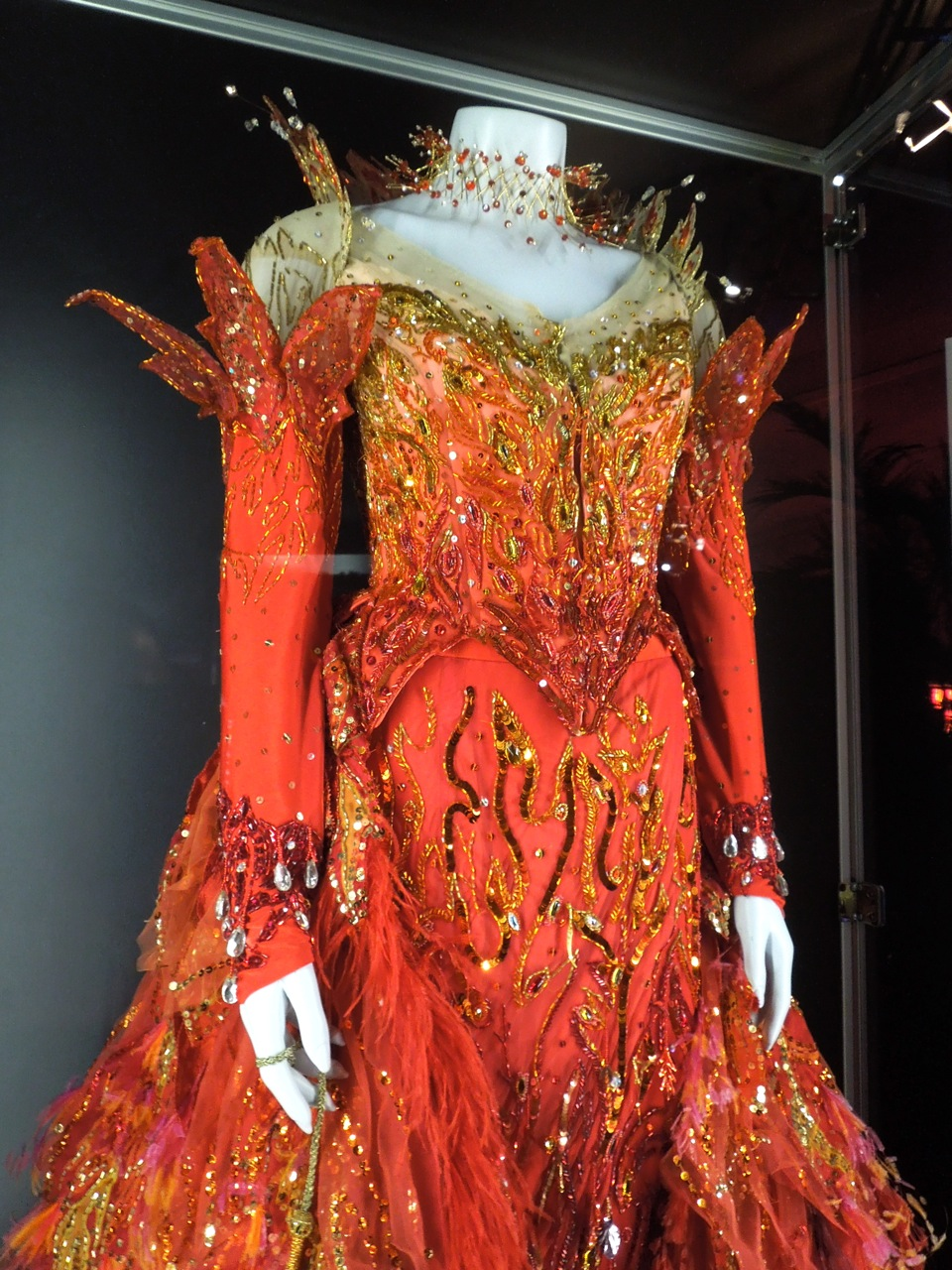 Cruella de Vil's 102 Dalmatians flame dress worn by Glenn ...