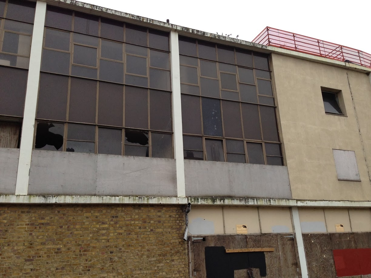 Derelict and abandoned, former office block, Queen's Wharf, Hammersmith