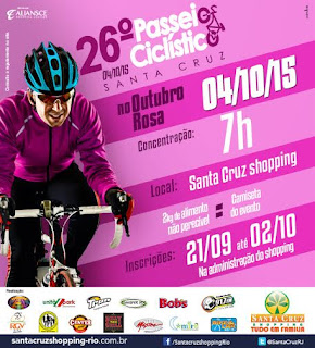 Santa Cruz Shopping promove o 26º Passeio Ciclístico no Outubro Rosa