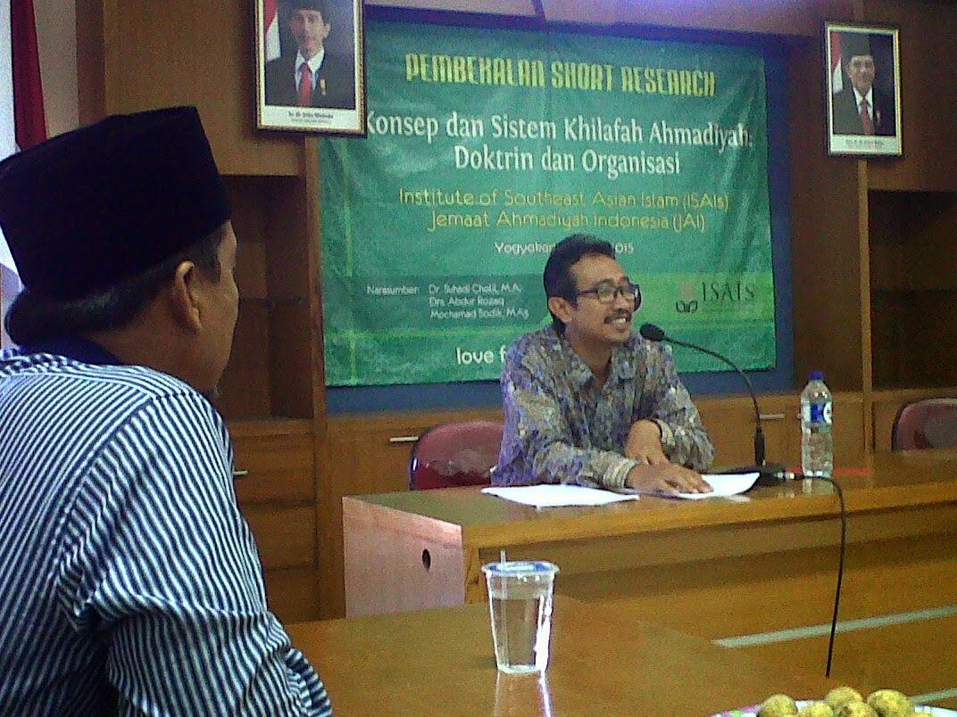 Pembekalan Singkat Short Research Konsep dan Sistem Khilafah Ahmadiyah Doktrin dan Organisasi