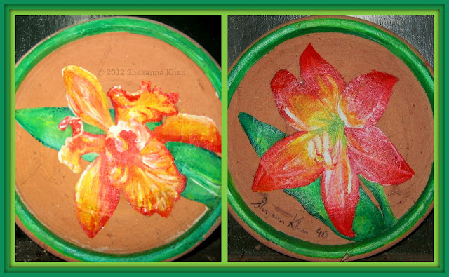 Tropical Flower Plates #2