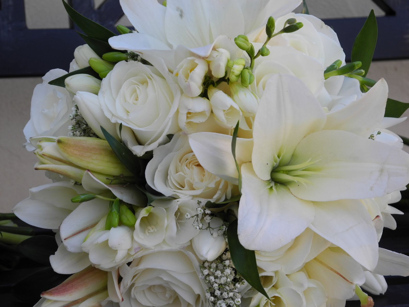Wedding Flowers Roses And Lilies : The flower girl white and gray wedding flowers