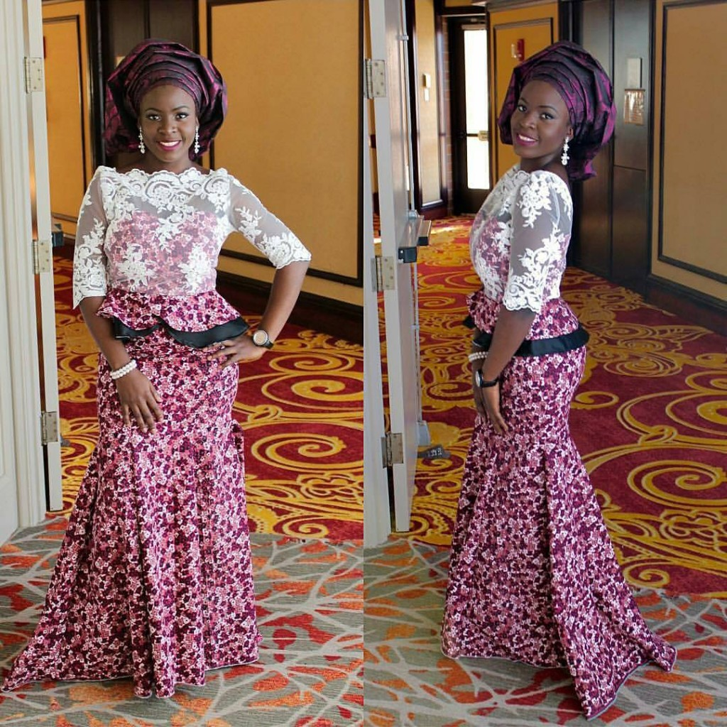 Aso Ebi Ankara And Lace Style Dezango Fashion Zone