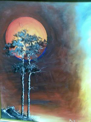lukisan bulan