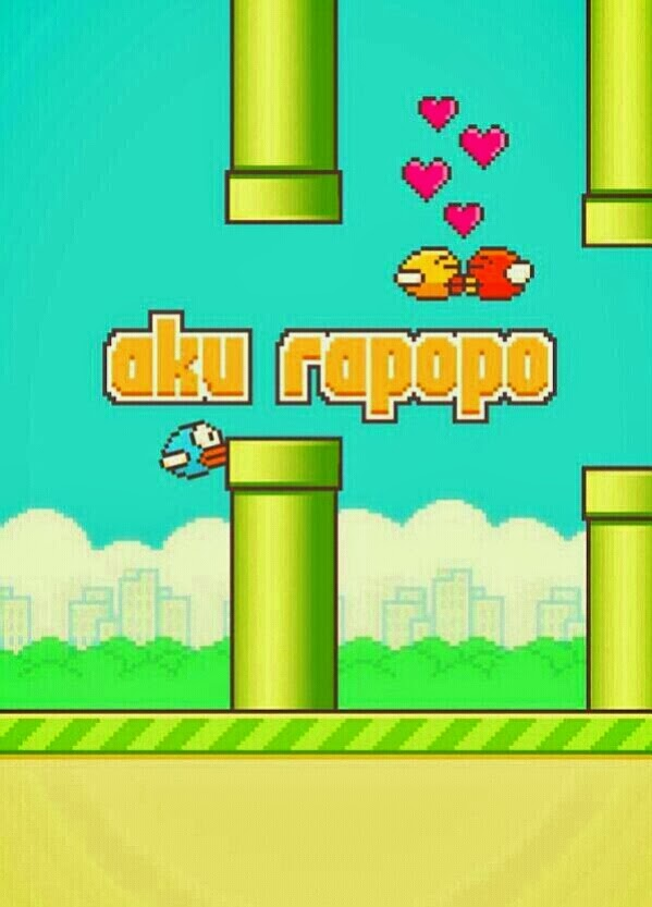 Flappy Bird versi #AkuRapopo