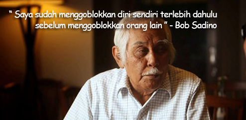 Kata Kata Bijak Bob Sadino dalam bahasa inggris terbaik dan artinya