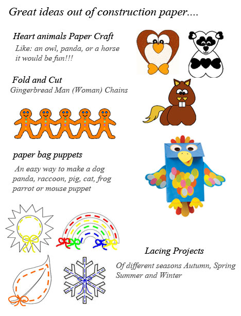 Construction Paper Crafts For Toddlers Crafts For Toddlers