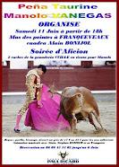 """Peña Taurina """"Manolo Vanegas"""" organiza fiesta campera en Franqueveaux, el 11/06."""