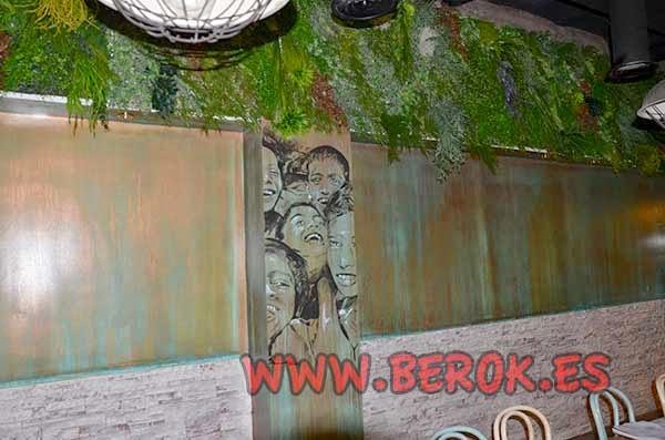 Decoración artística del restaurante 2254
