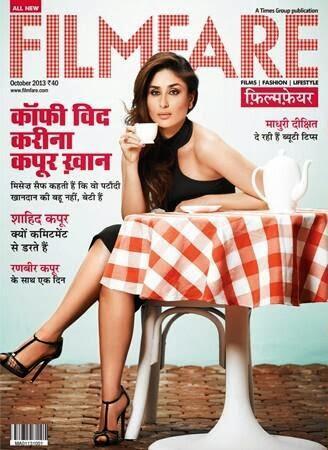 Kareena Kapoor on the cover of Filmfare Hindi