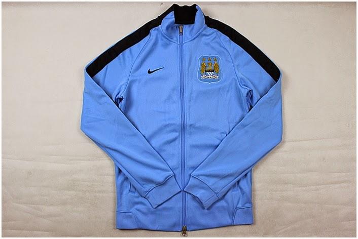 Grosir Jaket Original Manc. City Blue 2015 Nike