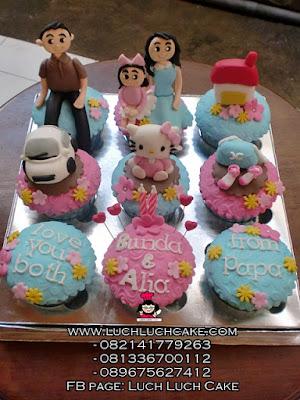 Cupcake Hello Kitty Tema Keluarga