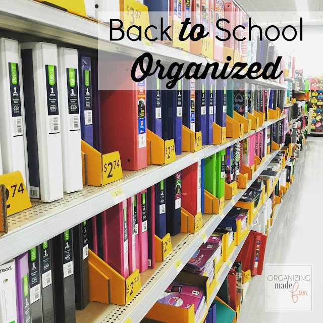 Back to School Organized :: OrganizingMadeFun.com