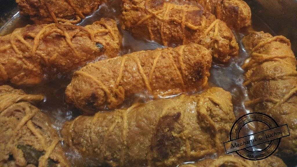 Rolada ślaska z wieprzowiny wołowa modra kapusta kluski sos mechanik pszczyna śląsk