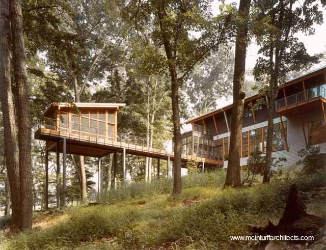 arquitectura de casas moderna casa del bosque