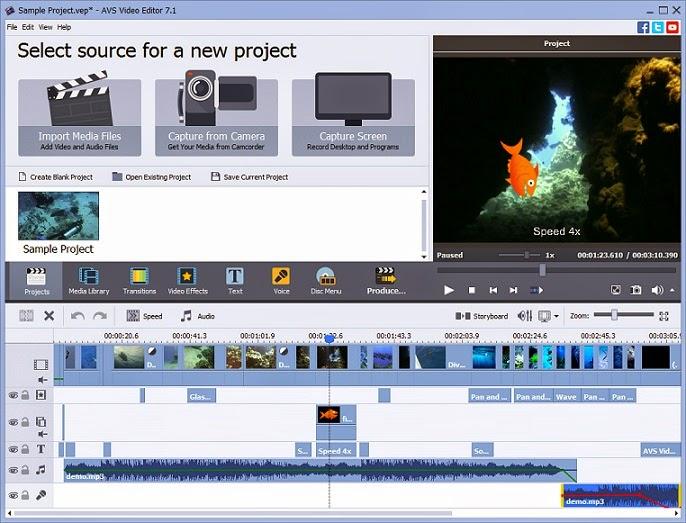 تنزيل برنامج محرر الفيديو AVS Video Editor 2015 كامل