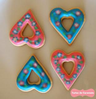 Galletas decoradas: corazones