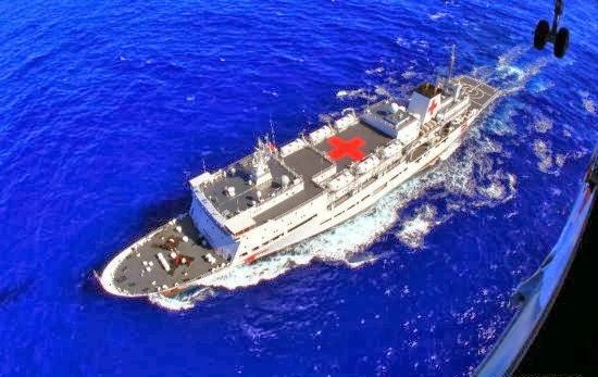 Tàu bệnh viện Peace Ark của Hải quân Trung Quốc. Ảnh: Sina