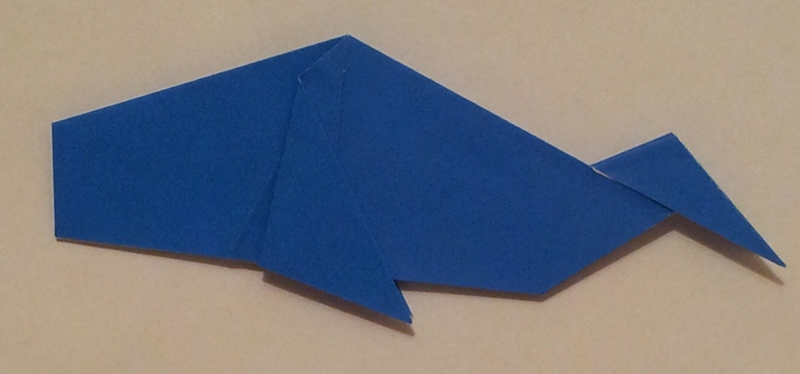 Origami Majestic Whale