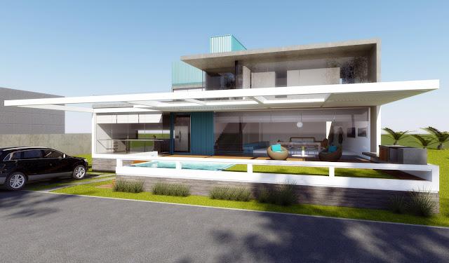 La forma moderna en latinoam rica casa playa lomas del mar for Casa moderna frente al mar