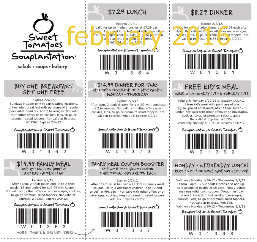 Souplantation coupon 2 for 16.99