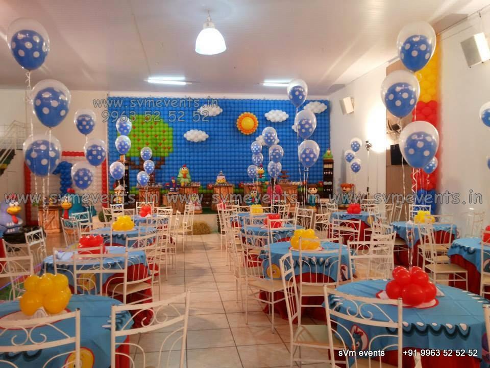 Svm events balloon wall balloon themes balloon for Balloon decoration in hyderabad