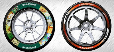 Bridgestone cria pintura para pneus