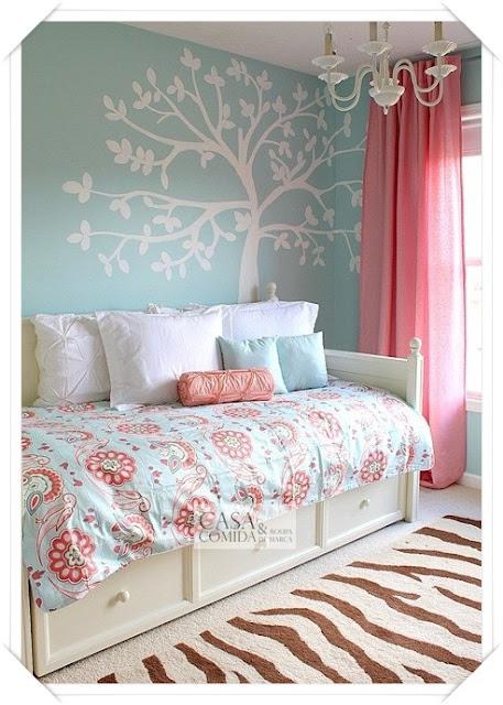 decoracao quarto azul turquesa e amarelo:Quarto teen. Redecorado por mãe e filha. ~ Casa Comida e Roupa de