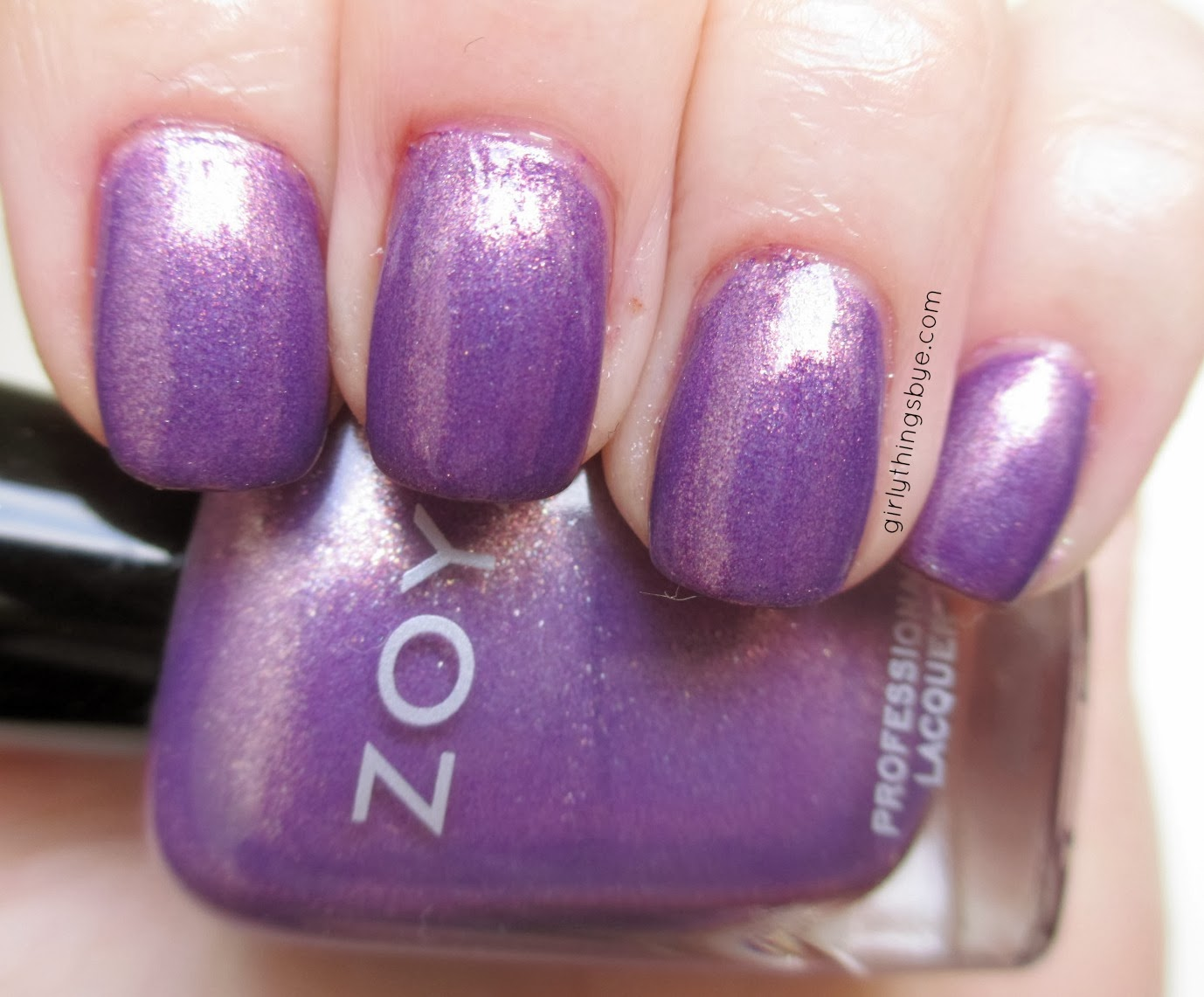 Zoya Dannii, swatch, nail polish, radiant orchid, @girlythingsby_e