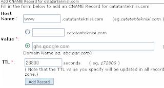 Cara Seting Custom Domain Blogger