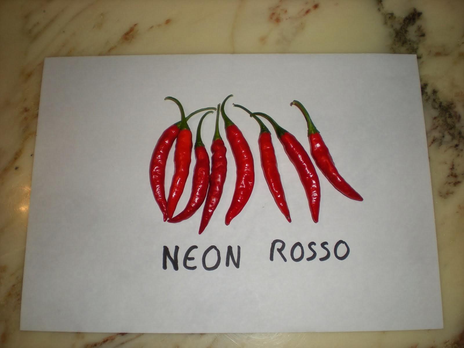 Neon rosso