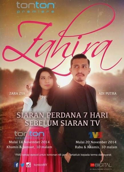 Drama Zahira Slot Samarinda TV3, sinopsis Drama Zahira, gambar Drama Zahira, pelakon Drama Zahira TV3, Drama Zahira menggantikan drama Selamat Pengantin Madu