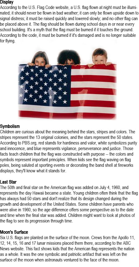 Us flag facts for kids