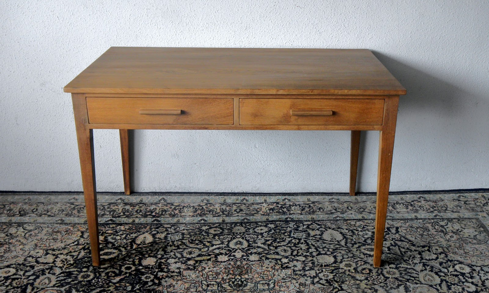 Superbe Another Vintage Writing Table. Solid Teak. Restored.